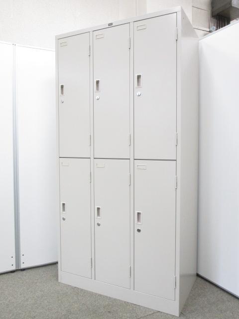 【大人気商品が限定入荷!!】一部部材に破損がありますが、問題なく使用可能!!一つ一つの部屋が広く使いやすい!|2段タイプの6人用ロッカー!!