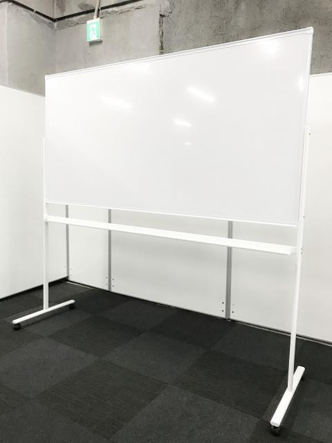 【幅1800の片面自立ホワイトボード】 会議室や、ミーティングルームにいかがですか?
