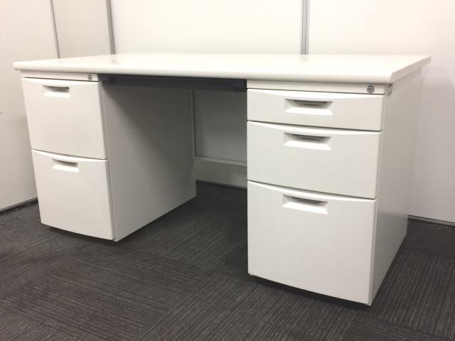 【限定1台入荷!】CZシリーズではレアなホワイト!両袖机のホワイトは人気商品です!