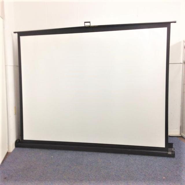 レア商品! 自立スクリーン ケース一体型 W2200 中~大会議室向け