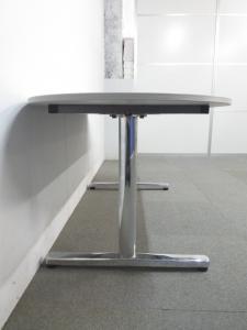 【片アール型デザイン】■ミーティングテーブル【4人用として最適なW1500mm】■木目柄ナチュラルカラー|その他シリーズ(中古)