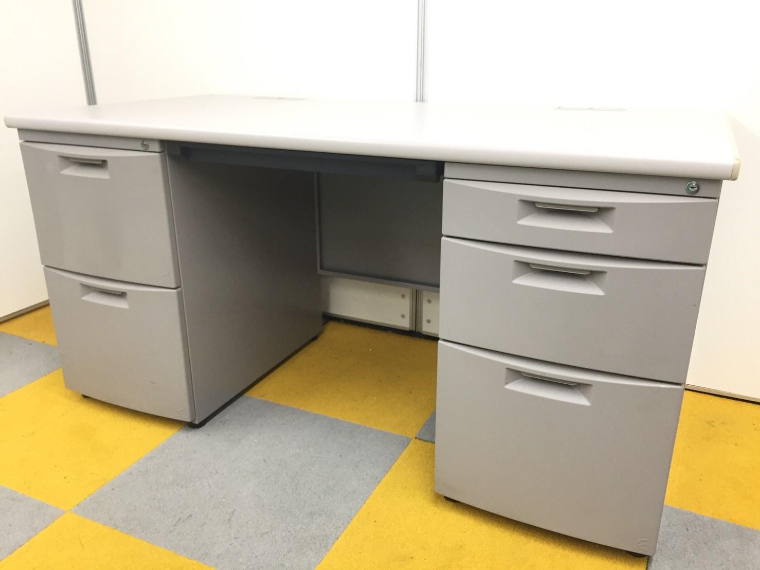 【残り2台!】【ワークスペース・収納スペースの両方が広い!】オフィス用両袖机