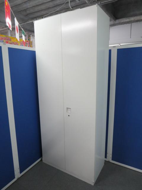 【たっぷり収納できる大型キャビネット!】■オカムラ製 両開き書庫(H2150mm) ■レクトラインシリーズ ホワイト