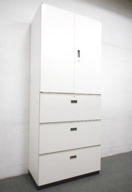 ■イトーキ製 両開き+3段ラテラル書庫セット【人気のホワイトカラー!】