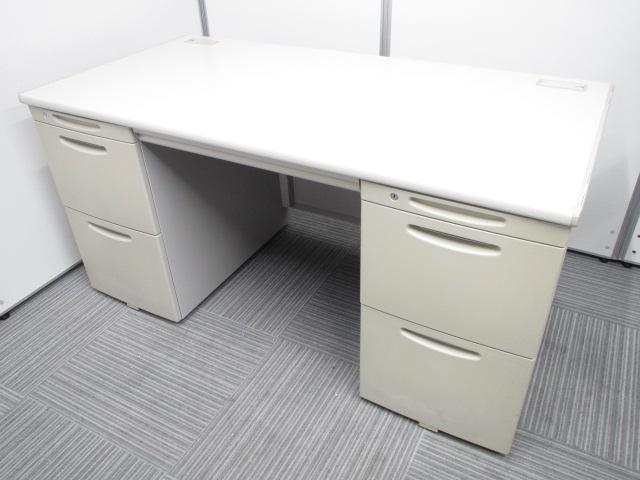 [幅1400mm]上長席に最適!幅広デスクを探している方にもお勧めの両側引き出し付き事務机です!