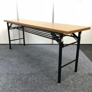 【人気商品!】木目調の折り畳みテーブルが入荷!会議室の必須アイテムですね♪