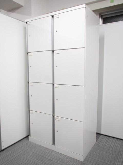 【パーソナルロッカー】8人用ロッカー 書類・荷物の個人管理に! 洗練されたデザイン性と使いやすい大型レバーで開け閉めしやすい!