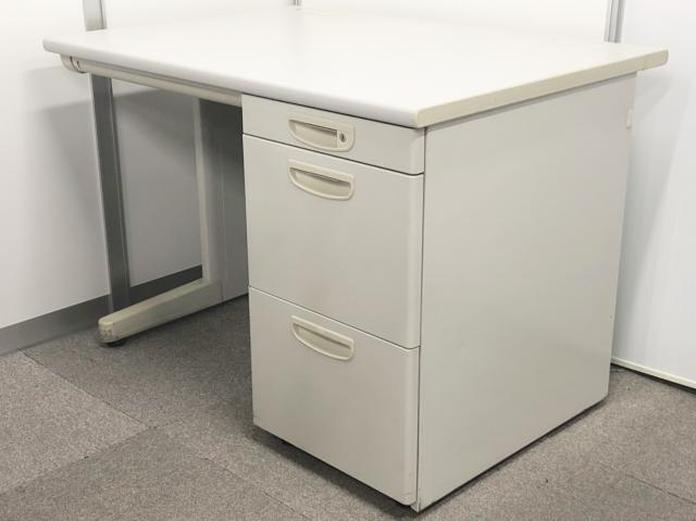 【大量入荷!今なら数が揃います!】【収納もたっぷりオフィスの定番商品!】幅1000mmの片袖机が入荷しました!