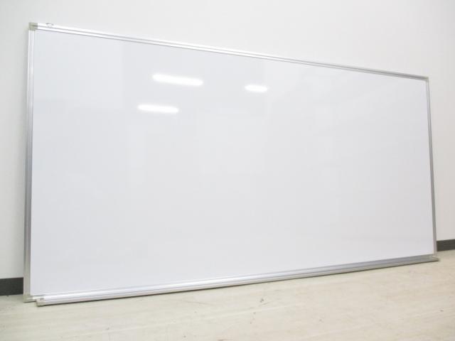 【メーカー在庫品】[壁掛けタイプ]ホワイトボード/両面無地 W1800mm【事務用品】 【オフィス家具】