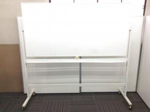 【両面ホワイトボード】3台入荷 自立式(キャスター付き)|-(中古)