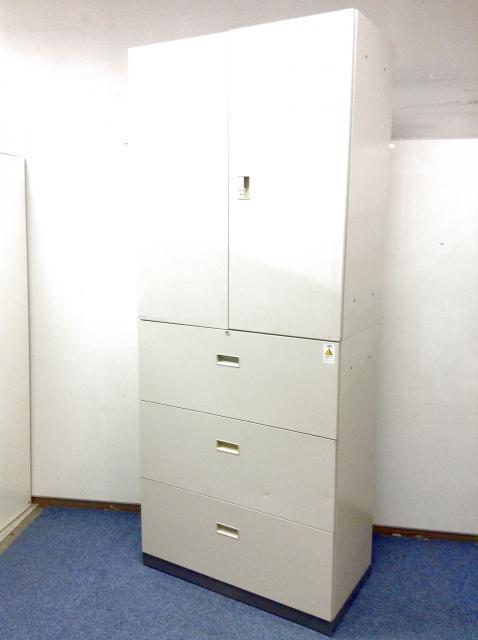 【2台入荷】両開き×3段ラテラル 大容量収納可能