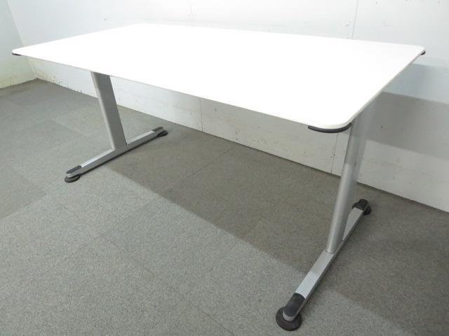 【知的空間をスタイリッシュに彩ります!】■コクヨ ミーティングテーブル ■W1500mm ホワイト【KOKUYO ALINA/T】
