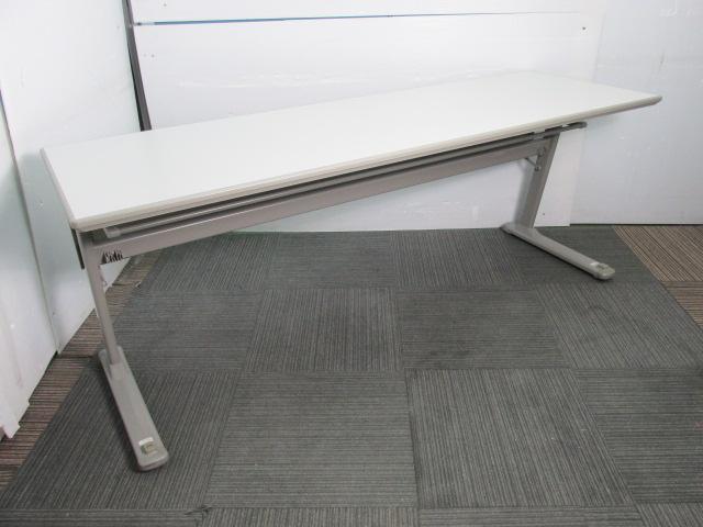 【スタックテーブル】オカムラ製 ミーティングテーブル キャスター付き