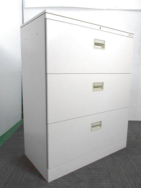 【天板付き】【商品入れ替えのため特別価格】オカムラ製単体書庫 3段引き出し 収納重視 ファイルの収納に最適♪