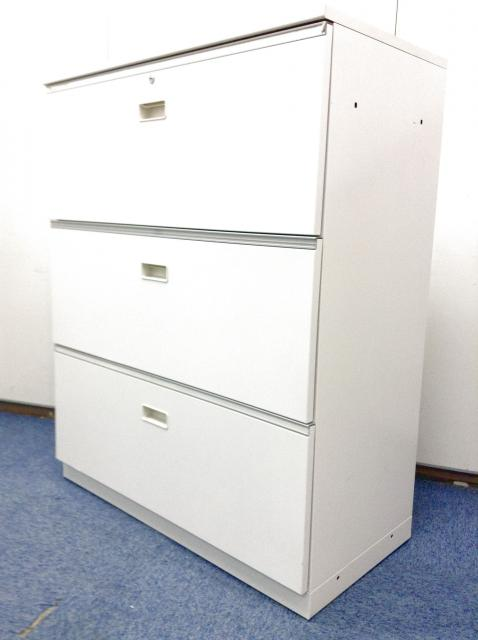 【書類管理しやすい 3段ラテラル・大容量収納】イトーキ製シンラインシリーズ