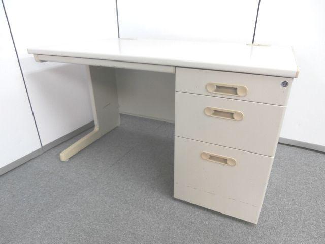 【人気の1200mmサイズで快適なオフィスワークを実現】■ライオン製 ■片袖机 ■1200mm
