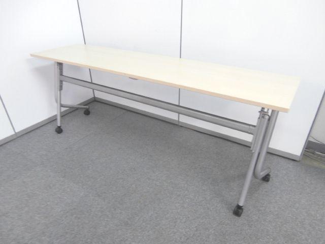 【大人気のナチュラルカラーサイドスタックテーブル!!】■オカムラ製 ■サイドスタックテーブル ■ナチュラルカラー