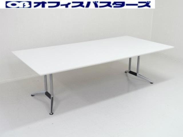 【地方倉庫在庫品】ピュアホワイト色 会議テーブル【RA】【794】