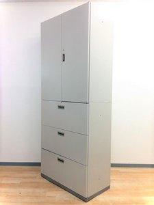 【オープン記念特価】【大量入荷24台!】両開き+3段ラテラルのスタンダードな書庫セット!大容量な収納力!起業や拠点開設の際に!