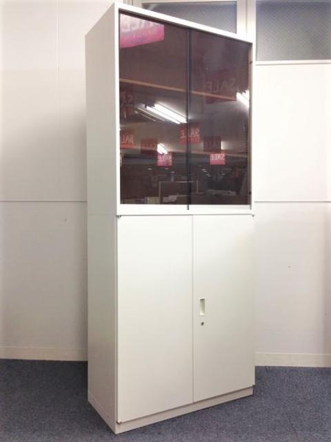 【SS級のレア商品】ホワイト!両開き+ガラス引き違いのセット!【ガラス引き戸は受注生産品です】