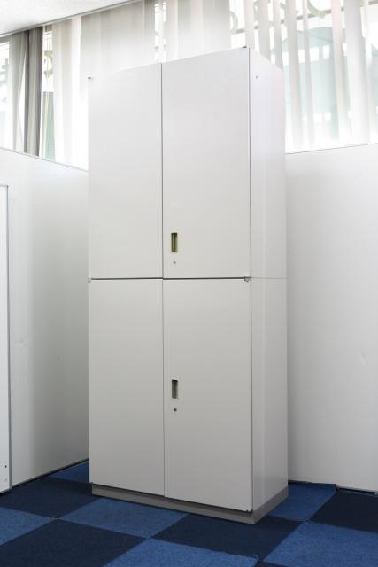 【書類の大容量収納に!!】両開き×両開きの書庫セット!!【オフィスの必需品です!!】