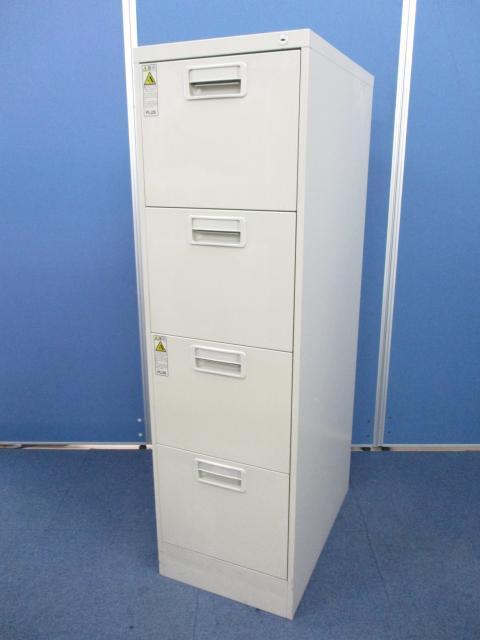 [A4ファイルを縦にコンパクトに収納!!]プラス A4ファイルキャビネット ■縦長の収納棚だから、ちょっとしたスペースにも置けて便利!!