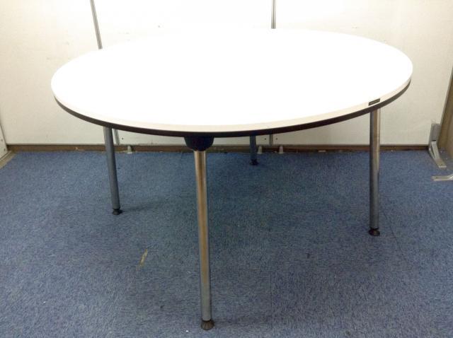 【定価15万がこの価格!?】オカムラ製│ 丸テーブル! しっかりした造り!