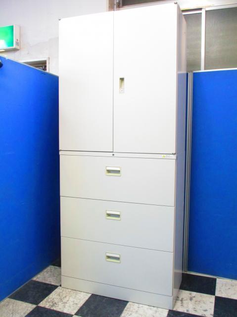 【書類の整理といったらコレ!】両開き+3段ラテラルのスタンダード書庫とセット!【中古オフィス家具】【さいたま市】