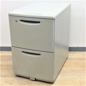 【日焼けありのため特別価格】デスクインワゴン 2段タイプでA4書類やファイル収納に特化したデスク下収納!!キャスター付き