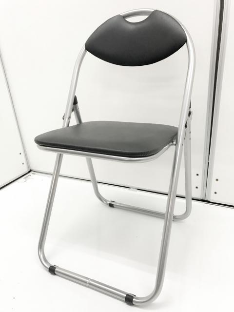 【何かと必要な!】折り畳みパイプ椅子入荷致しました!【日本橋店に現物在庫御座います!!】|人気のブラック