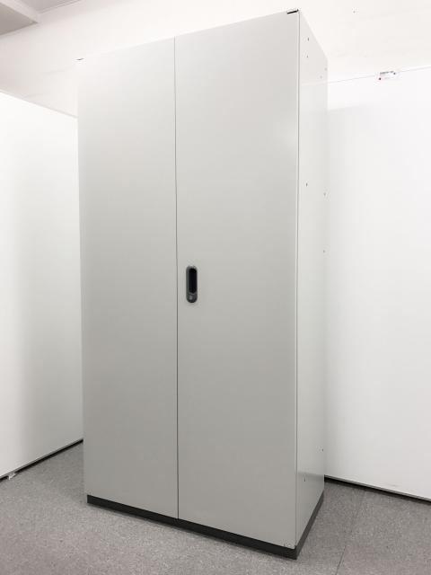 【ちょど良い高さ感!】高さ1850mmの両開き単体書庫【プラス製鍵付き書庫】