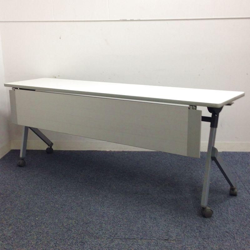 【明るめのニューグレー色】シンプルな1800サイズのスタックテーブル