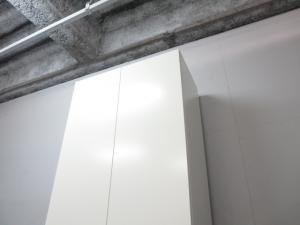【多人数用ロッカー】■ワードローブ(W800mm)ホワイト ■レクトライン(Rectline)シリーズ【両開き扉】【B】|その他シリーズ(中古)