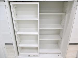 【美品】希少な書庫が入荷!細かい物の仕分けにとても便利です!手前の棚はスライド式でロック可能![Rectline](中古)