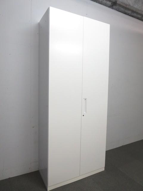 【収納スペース充実!】■コクヨ製 両開き書庫 ホワイト ■【KOKUYO EDIA】ハイキャビネット