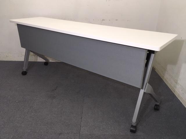 【20台入荷】|スタックテーブル|ホワイト|幕板付き|会議室や講習会用におすすめ!
