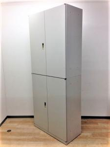 【大容量!!収納にお困りならこちら!】オカムラ製上下両開き書庫セット A4ファイルが6段収納可能!!