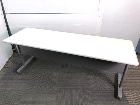 【幕板付き】内田洋行製中古サイドスタックテーブル 天板が折りたためます【福岡在庫商品】