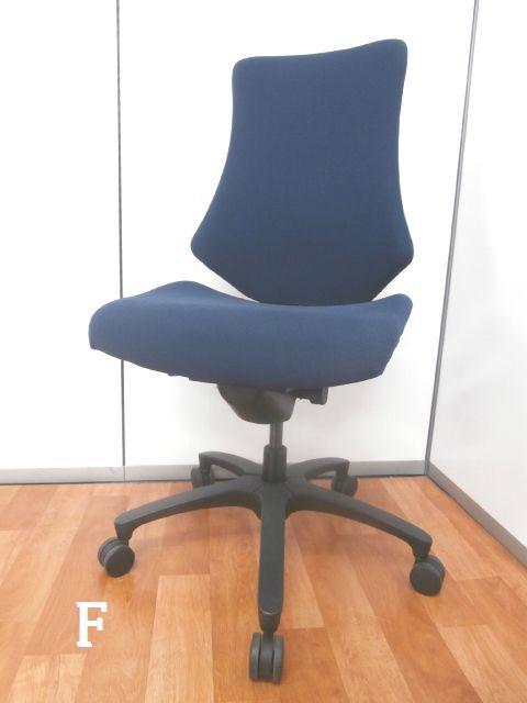 【姿勢の変化にフレキシブルに対応してからだになじむインナーシェルを内包】■イトーキ ■F ■エフチェア ■事務椅子 ■高機能 ■OAチェア ■ブルー ■青