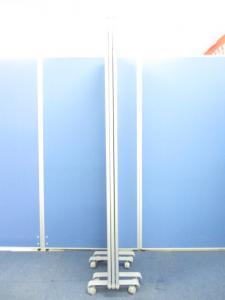 【レアな3連パーテーション!!】キャスター付■グレーカラー■|その他シリーズ(中古)