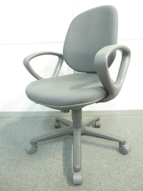 【デスクワーク向けの本格的な座り心地!】■ウチダ ジャストチェア グレー