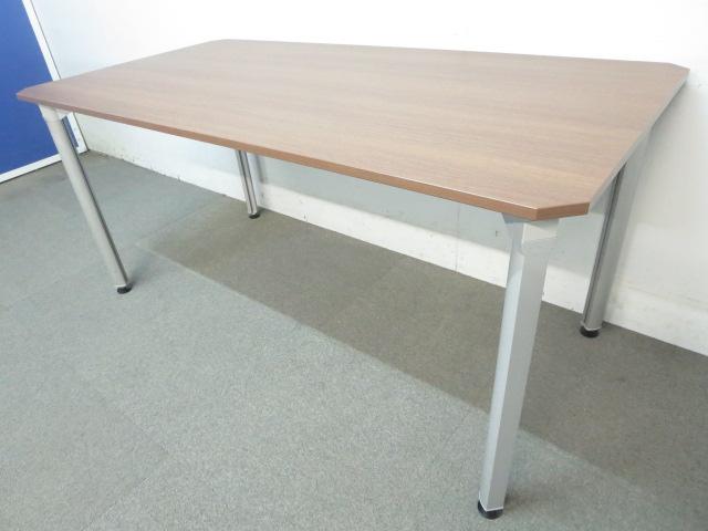 【高級会議用テーブル】■SnapPower(スナップパワー) ■W1500×D750mm ネオウッドダーク