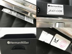 HermanMiller/ハーマンミラー イームズ アルミナムチェア チェア 50周年記念モデル 黒 本革 ミッドセンチュリー|その他シリーズ(中古)