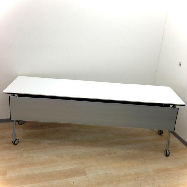 【長めの幅2100mm】大型サイドスタックテーブルが入荷! キャスター付きなので学校や塾、セミナー用にも!