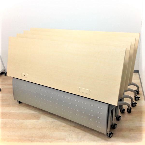 【オフィス・塾・セミナー等にも!】シーンを選ばないスタックテーブル4台セット! 4つ合わせれば幅3600mmのテーブルとしても使える!