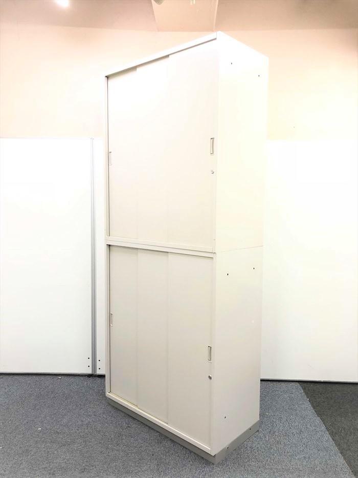 【収納しやすい3枚引き戸】収納時間口が広く収納がし易い書庫 イトーキ シンラインシリーズ