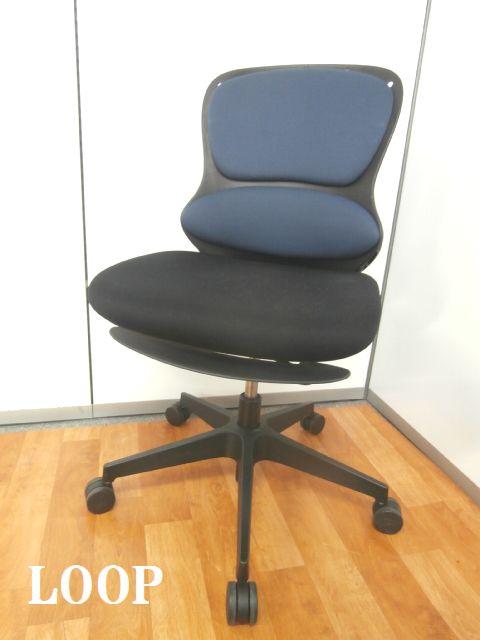 【オフィスの変革を踏まえて開発されたループチェア】■イトーキ製 ■ループ ■ブルー ■青 ■事務椅子 ■OAチェア ■椅子 ■チェア ■人気