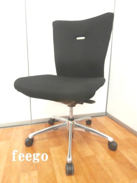 【ワーカーをサポートしてくれる安心の機能性・シンプルなデザイン】■オカムラ製 ■フィーゴ ■OAチェア ■事務椅子 ■ブラック ■快適 ■椅子 ■チェア