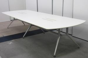 【完売必須!!】2枚天板!!超大型ミーティングテーブル!!会議室の必需品です!!【人気のホワイトカラー!!】