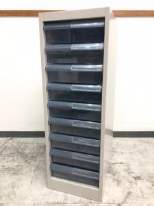 小物・書類整理 1列クリスタルトレイ A4サイズ9段収納可能